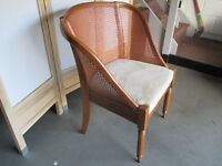 WILLIS AND GAMBIER WOVEN BACK BEDROOM CHAIR FREE DELIVERY