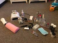 Gel/acrylic starter kit.