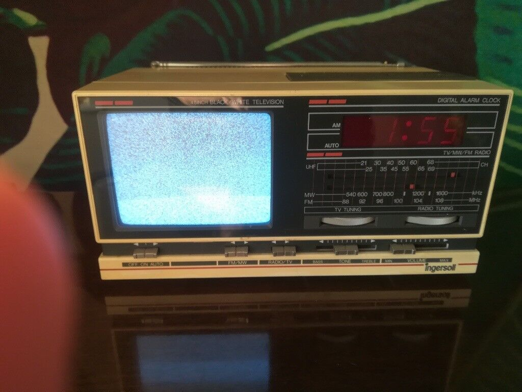 Great Working Order 1980s Ingersoll Vintage Black And White Tv Radio