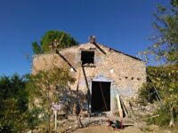 french farm house, ruin, land, project, south of france, languadoc