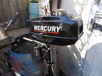 MERCURY 3.3HP OUTBOARD MOTOR 2 STROKE STANDARD SHAFT V.G.C SERVICED