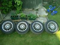 "Calibre 16"" wheels + almost new tyres 205/55/R16"