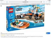 Lego city Coast Guard Truck with speed boat (5years old +)