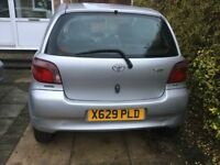 Quick sale Toyota Yaris auto 1.3 door