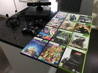 Xbox 360 Kinect with 12 games 2 controllers 2 headsets