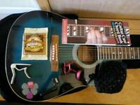 Guitar with case and extras