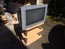 Phillips 32 inch CRT TV Digital with stand gaming