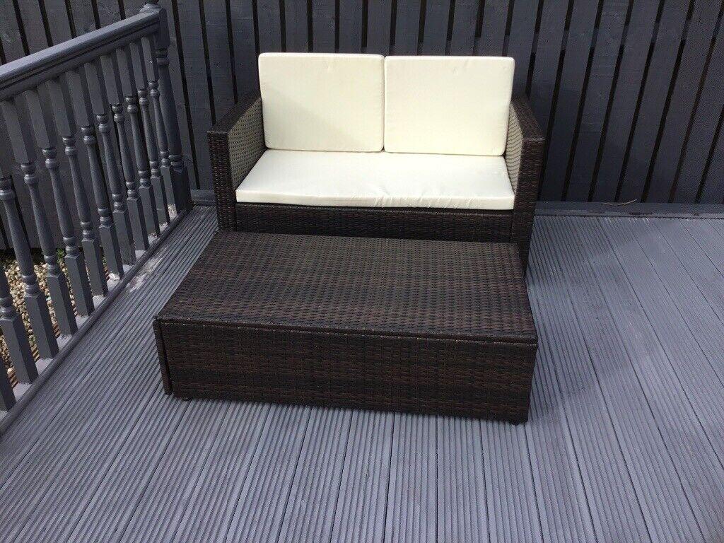 Small garden patio sofa