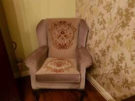 Single vintage occasional chair