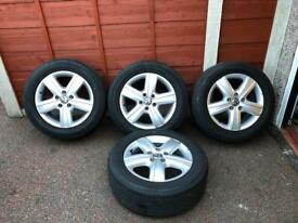 "Volkswagen T5 Transporter 17"" alloy wheels and tyres"