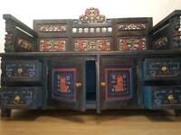 Absolutely Stunning Indonesian carved settle storage bench