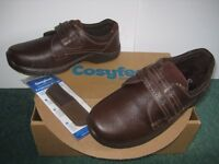 Mens shoes -cosyfeet- size 9, brown NEW