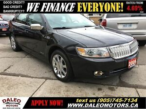 2009 Lincoln MKZ AWD 75 KM SUNROOF HEATED/COOLED LEATHER