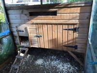 Chicken Coop, large run & 4 hens