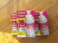 Flea spray Johnsons 4fleas room fogger 6 cans (or 2 cans for £9)