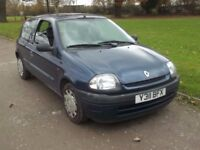 2001 RENAULT CLIO 1.2, MOT NOVEMBER 2018, ONLY 74,000 MILES, FSH, 1 OWNER, ONLY £495