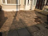 Driveway and patio cleaning. Jet pressure cleaned, sanded and resealed. Best competitive prices.