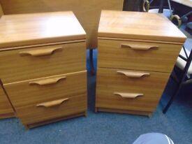 2 modern bedside cabinets.