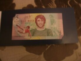 GEORGE BEST COMMEMORATIVE £5 NOTE UNCIRCULATED