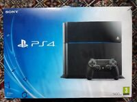 Fully boxed ps4 like new no scratch with controller and all leads