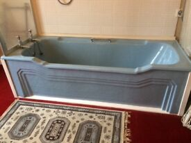 Classic Art Deco cast bath with original panel