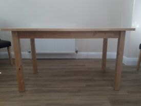 Kitchen dining table in pine