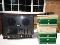 VGC Boxed Vintage retro 1970's AKAI 4000DS reel to reel tape recorder