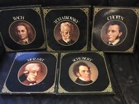 Collection of Concert Hall Classical albums , 5 composers and 6 albums in each one