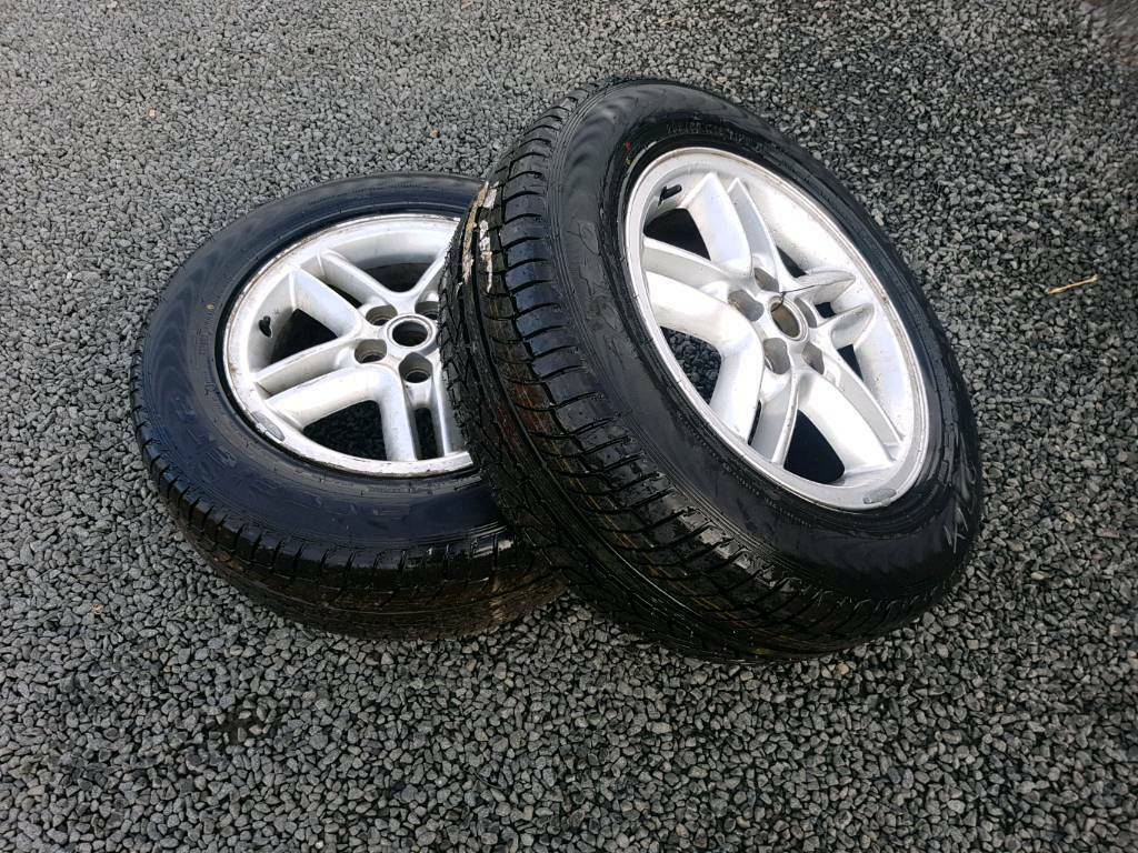 2x land rover discovery 255 60 r18 alloys with brand new tyres