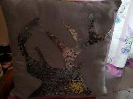 Brand new with tags reindeer cusion pillow throw