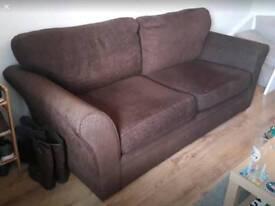 Brown 3 seater sofa
