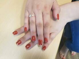 Gel nail and gel extensions