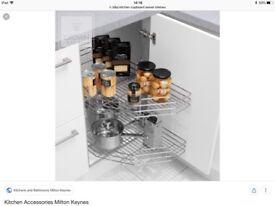 B&Q Kitchen Corner Cupboard Swivel Shelves