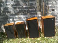 Wharfedale and Dynatron Vintage Loud Speakers HiFi (Job Lot)