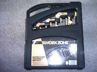 work zone 16 piece set t-handle hex key