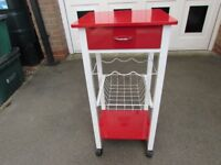 USED PORTABLE KITCHEN PREP TABLE/RACK