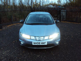 HONDA CIVIC 2.2i CTDI 5 DOORHATCHBACK SPORT XENONS 6 SPEED MP3CD PARKAID DIESEL2008MOTSERVICEHISTORY