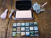 NINTENDO DS,lite GAME,s PINK...CONSOLE WITH 18 GAMES.
