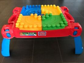 Mega Bloks First Builder Build n Learn table and bloks set