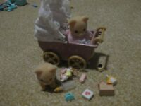 Sylvanian Families Brown Bear Babies and Accessories