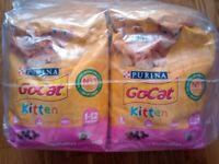 PURINA GoCat Kitten 1-12 months 4x2kg pack chicken, veg and milk