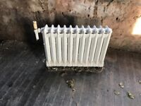 Traditional cast iron radiators salvaged from St. John's Primary School
