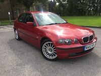 BMW 318 TI COMPACT 2003 FULL SERVICE HISTORY INDIVIDUAL MODEL 78K MILES MET RED P/X WELCOME