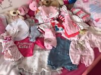 Newborn and upto 1 month girls clothes