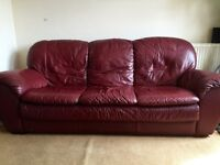 Genuine leather, 3 seater sofa in good condition.