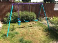 Kids Triple Garden Swing