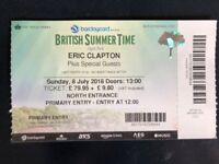 Eric Clapton @ Hyde Park in London, x1 TICKET Sunday, 8 July 2018, 19:00 £170