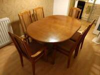 Dining table and 6 chairs (*delivered*)