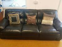 Stunning 2 x 3 Seater Top Quality Leather Sofas