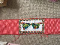 Cot bumper and quilt hungry caterpillar